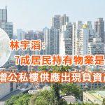 林宇滔:7成居民持有物業是屬誤導 增公私樓供應出現負資產機會微